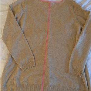 Lilly Pulitzer cashmere sweater with pink stripe